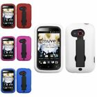 Black/White/Red/Pink/Blue Symbiosis Hybrid Stand Case Cover For HTC Desire C