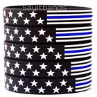 5 US Flag Stars  Stripes Wristbands Featuring Thin Blue Line USA Bracelet Bands