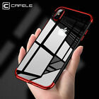 Shockproof Plating Clear Slim Hybrid Bumper Case Back Cover For iPhone X 8 7 6 +