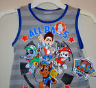 NWT ☀PAW PATROL☀ Boys t-shirt Tank ALL PAWS ON DECK New YOU PICK SIZE   3t or 4t