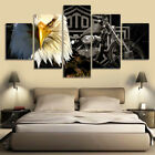 5PCS/Lot 50*100cm Eagle Motorbike Wall Sticker Digital Printing Home Decor Gifts