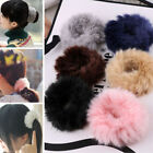 2017 Fashion Fluffy Faux Fur Furry Scrunchie Elastic Hair Ring Rope Band Tie