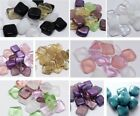 8(mm) CZECH GLASS TEXTURED SQUARE/CUBE BEADS FOR JEWELLERY MAKING - (20PCS)