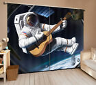 2 Panel 1117 Blockout 3D Curtain Window Curtains Photo Print Hold the guitar