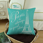 "Square Pillows Throw Cushions Covers Paris Eiffel Tower 18""X18"""