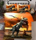 3D Dinosaurs Era Bed Pillowcases Quilt Duvet Cover Set Single Queen King Size AU