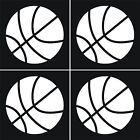 4 BASKETBALL Stickers/Decals balls hoops 2 1/2""