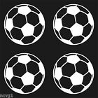 4 SOCCER BALLS Sticker/Decal ball 2 1/2""