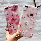 New Silicone Phone Cover Relief Flower Soft Shell For iPhone 8 7 7Plus 6 6Plus