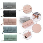 Fashion Women Lady Wallet PU Button Hand Purse Bag Card Holder Case 5 Colors