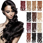 "28"" 70cm 3/4 full head Synthetic Curly Straight 5 Clip in Hair Extensions Long"