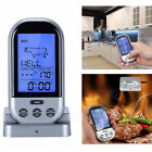 1X Wireless Digital Cooking Thermometer w Timer/Alarm BBQ Oven Smart Meat Probe