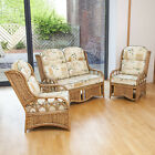 Penang Cane Conservatory Furniture Full Suite with Luxury Cushions