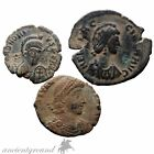 GROUP OF 3 TOP QUALITY ROMAN AE CLEAN COINS