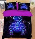 3D Scorpio 213 Bed Pillowcases Quilt Duvet Cover Set Single Queen King Size AU