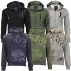 Mens Sweatshirt Crosshatch Hoodie Top Camo Army Military Fleece Lined Winter New