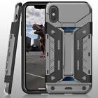 [Military Grade]Impact Protection Carbon Fiber Hard Armour Case For iPhone X 8 7