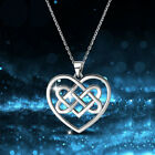Celtic Knot Necklace 925 Solid Silver Pendant Infinity Love Jewelery for Girls