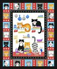 THE CAT'S MEOW range by Kate Mawdsley for Henry Glass fabrics 100% COTTON FABRIC
