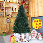 5.5'/6'/7'Ft Artificial PVC Christmas Tree W/Stand Holiday Season Indoor Outdoor