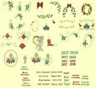 Candlewick & Satin Christmas Machine Embroidery Designs- 111 Anemone Designs