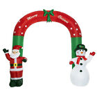 Christmas Archway Santa & Snowman Inflatable Arch Decor Airblown Indoor Outdoor