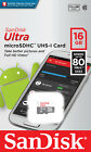 SanDisk Ultra 16GB 32GB 64GB microSDXC microSDHC MicroSD UHS-I Flash Memory Card <br/> 100% GENUINE SanDisk 80MB/S 533X Retail Pack Class 10 !