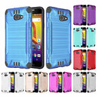 FOR ALCATEL A30 / KORA ZIP BRUSHED ARMOR CASE HEAVY DUTY COMBAT TPU COVER+STYLUS