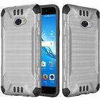 For Huawei Ascend XT2 Slim Armor Dual Layer Hybrid Brushed PC/TPU Rubber Case
