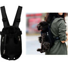 BLACK Nylon Pet Dog Carrier Backpack Front Net Bag Puppy Tote Carrier Sling S~XL
