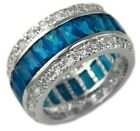 4.60TW PERSIAN EMERALD CUT ETERNITY BAND RING size 5,10