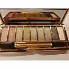9 Colors Shimmer Eyeshadow Eye Shadow Palette & Makeup Cosmetic Brush Beauty