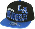 NEW  LOS ANGELES FLAT BILL SNAP-BACK CAP 3-D EMBROIDERY
