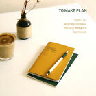 To Make Plan Mini Planner Journal Sketch Notebook Synthetic Leather Cover
