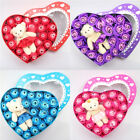 Cute Bear Rose Eternal Flower Box Fragrance Artificial Valentine's Day Gifts Kit