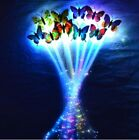 Glow Butterfly Hair Clip Flash LED Colorful Luminous Braid Show Party Decor