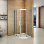 900x900mm Luxury Frameless Quadrant Shower Enclosure Sliding Door+Tray+Waste