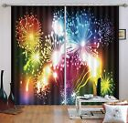 3D Fireworks 30 Blockout Photo Curtain Printing Curtains Drapes Fabric Window AU