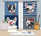 3D Dogs Pattern Blockout Photo Curtain Printing Curtains Drapes Fabric Window AU