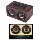 Wooden Subwoofer Wireless Bluetooth Speaker hifi Stereo Bass W/Dual Speakers