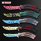 CSGO Butterfly Knife Balisong Dull Trainer Training Practice Metal Steel Tool