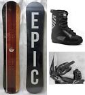 """NEW EPIC """"STATIC"""" SNOWBOARD, BINDINGS, BOOTS PACKAGE - 143cm, 147cm, 154cm"""