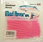 """Mad River Steelhead Worms Shrimp Scented 3"""" to 4"""" You Choose Colors USA"""