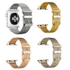 For Apple Watch Series 1 2 3 38mm/42mm Stainless Steel Watch Band Strap