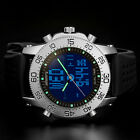 INFANTRY Mens LED Digital Quartz Wrist Watch Chronograph Alarm Military Rubber