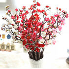 Artificial Bouquet Silk Fake Flower Plum Blossom Wedding Party Home Garden Decor