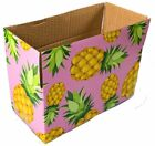 8x4x4 Pineapple Designer Boxes corrugated Cardboard Box Shipping Cartons Mailers