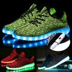 New Unisex Fashion LED Light Lace Up Sportswear  Casual Shoes TXCL