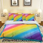 3D Rainbow 200 Bed Pillowcases Quilt Duvet Cover Set Single Queen King Size AU