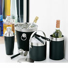 Black Or Red Champagne Bucket Wine Bottle Cooler Ice Bucket Cocktail Shaker Bar